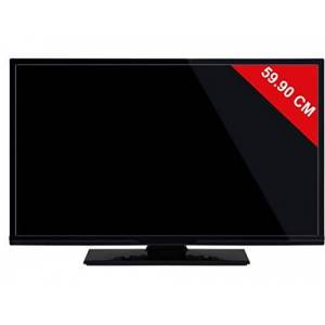 Telefunken TV Edge-LED HDTV  PX2412V17 TV LED 24 pouces Enregistrement PVR (sur USB) Prise casque Son 2 x 2.5 - Publicité