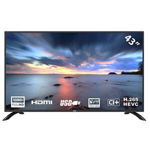 HKC Téléviseur LED  43F3 de 109 cm (43 pouces) (Full HD, triple tuner, CI +, HDMI, lecteur multimédia via USB 2.0) [classe énergétique A] - Publicité