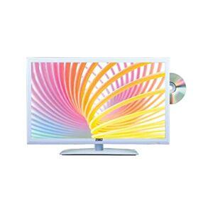 """ANTARION TV LED Blanc 15,6"""" 41cm Télévision HD TNT Camping 12V DVD intégré - Publicité"""