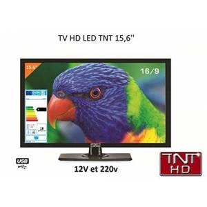 ANTARION Télévision TV HD LED 39,6 CM pour Camping Car 220v/12v/24v - Publicité