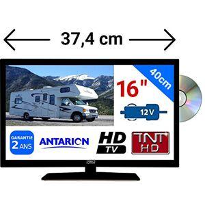 """ANTARION Combiné DVD TV Camping Car Camion 16"""" 39,6cm LED HD TNTHD 220V 24V 12V - Publicité"""