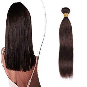 Ugeat Tissage Cheveux Naturels Extension Human Hair Weft 16 Pouces #2 Marron Plus Foncé Trame de Cheveux Humains Soyeux Droite 100g Tissage Cheveux Humain en Lot Weft Hair - Publicité