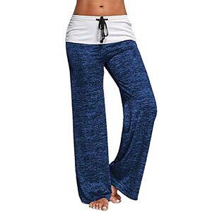 Flyself Femme Pantalon de Sport Pantalon Longue Elastique d'intérieur Jogging Détente Eté Yoga Pants Décontracté Pyjama Pantalon