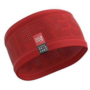 Compressport Headband on/Off Bandeau Running Adulte Unisexe, Rouge, Taille Unique - Publicité
