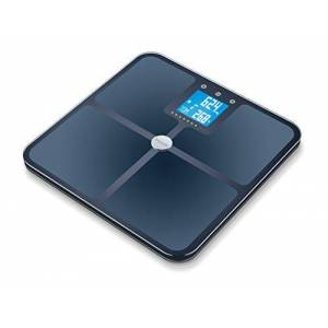 Beurer BF 950 Pèse-Personne Impédancemètre Noir Balance de Diagnostic Moderne avec Mode Grossesse 8 mémoires utilisateurs avec Affichage des calories Amr/Bmr et Mesure de Graisse Corporelle - Publicité