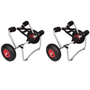 vidaXL 2X Chariots pour Kayak Chariots Roulants Chariots de Transport pour Bateau Chariot  Roues de Cano Robuste Pare-Chocs 70 kg - Publicité