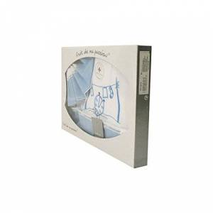 Fruit de ma passion Coffret Parure de draps pour berceau, landau, couffin bleu Motif Coccinelle - Publicité