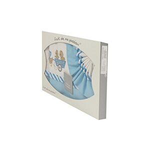 Fruit de ma passion Coffret Parure de draps pour berceau, landau, couffin bleu ciel Motif Poussins Chariot - Publicité