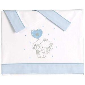 Pekebaby ELEFANTINO Azul Parure de lit en Coton pour lit de bébé 50 x 80 cm - Publicité