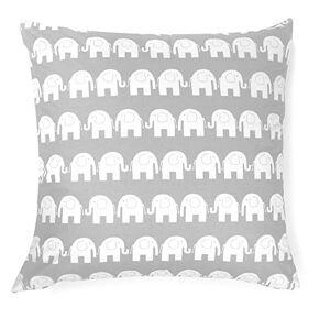 Glocal Berlin Ami Lian Coussin Déco Housse de coussin d'oreiller 80cm x 80cm éléphant gris - Publicité