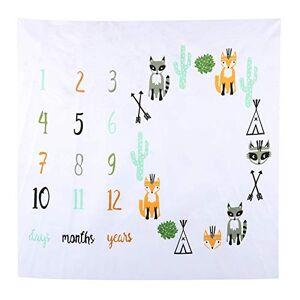 Hztyyier Nouveau-né Photographie Couverture Fox Forme Motif Mensuel Jalon Couverture Shoot Photo Props pour Infant Garçons Filles - Publicité