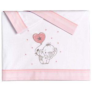 Pekebaby ELEFANTINO Rosa Parure de lit en Coton pour Berceau 50 x 80 cm - Publicité