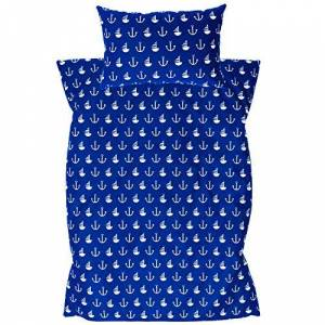 Amilian Ami Lian Parure de lit bébé design: Ancre Grand Bleu Taille Set Parure de lit pour enfant de lit 100x 135cm (40x 60cm) - Publicité