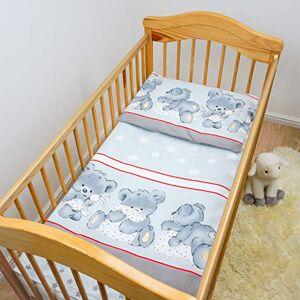 Baby Comfort Ensemble de literie 2 pices lit bébé (Housse de couette 120x90 cm et taie d'oreiller 40x60 cm) Modle 27 - Publicité