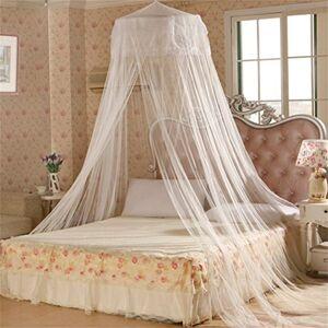 bismarckbeer Parure de lit , lit de princesse, canopée, décoration douce, style rond avec filet moustiquaire - Publicité