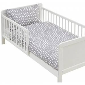 LULANDO m00007997Parure de lit pour enfant Parure de lit 2pices Taie d'oreiller et housse de couette. extérieur 100% coton. Convient pour lit d'enfant 70x 140cm, multicolore - Publicité