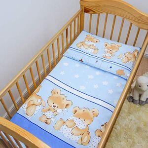 Baby Comfort Ensemble de literie 2 pices lit bébé (Housse de couette 120x90 cm et taie d'oreiller 40x60 cm) Modle 26 - Publicité