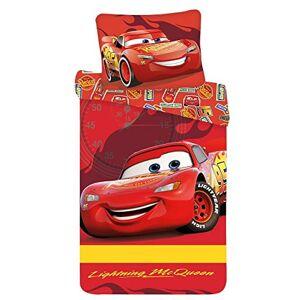 KiGATEX McQueen Parure de lit pour enfant 2 pices 100 % coton 40 x 60 cm + 100 x 135 cm avec fermeture clair - Publicité