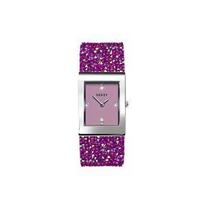 Sekonda Seksy Montre pour femme avec bracelet en cristal Swarovski résistant  l'eau réglable Pink Rocks. Publicité