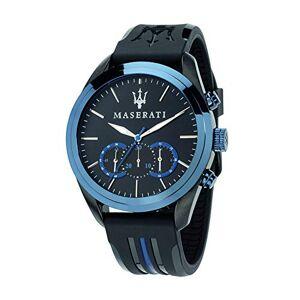 Maserati Montre pour Homme, Collection Traguardo, Mouvement  Quartz, chronographe, en Acier et Cuir R8871612006 - Publicité