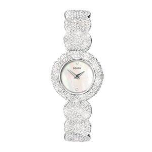 Seksy Blanc Nacre Cadran Bracelet en Pierre de avec 579Cristaux de Swarovski Montre pour Femme - Publicité