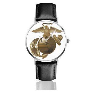 Valender Aigle Globe Anchor Marine Corps Montre Business Fashion pour Hommes Montre en Cuir - Publicité