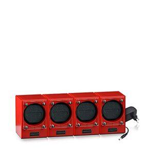 DESIGNHTTE Tourne-montre Piccolo, Piccolors édition limitée Sundown/rouge, lot de 4 pour 4 montres automatiques, systme modulaire jusqu' 4 mouvements peuvent tre connectés sans fil par induction. Publicité