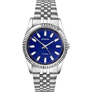 Sekonda  Montre bracelet en acier inoxydable pour femme Cadran bleu - Publicité