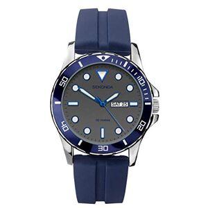 Sekonda Montre de sport analogique  quartz pour homme avec bracelet en silicone bleu et cadran gris - Publicité