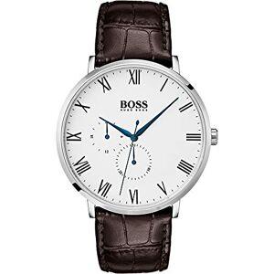 Hugo Boss Hommes Multi-Cadrans Quartz Montre avec Bracelet en Cuir - Publicité