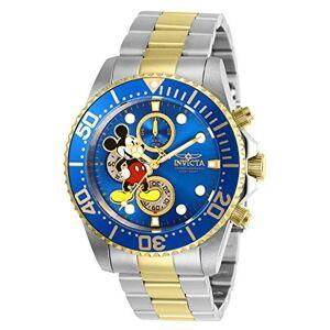 Invicta  Disney Limited Edition Mickey Mouse Montre Homme acier inoxydable Quartz Cadran bleu - Publicité