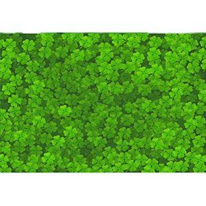 Leowefowa 3x2m Vinyle Saint Patrick Toile de Fond Photo Trfle Vert Fond d écran des Champs de trfle Irlandais Chanceux Fond De Studio Photo Photographie Props Photobooth - Publicité