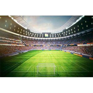 Leowefowa 3x2m Vinyle Sport Toile de Fond Photo Stade Soccer Football Court Projecteur Champs d'herbe Fond De Studio Photo Enfant Adulte Photographie Props Photobooth - Publicité