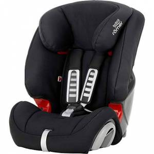 Britax Rmer Sige Auto EVOLVA 1-2-3, volutif et Confortable, enfant de 9  36kg (Groupe 1/2/3) de 9 mois  12 ans, Cosmos Black - Publicité