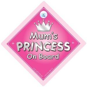 iwantthatsign.com Princesse de maman sur le Board, Princesse sur planche, Princesse Sign, mre, maman, voiture Panneau, panneau bébé bord, bébé bord, nouveauté voiture Panneau, signe pour voiture (723) - Publicité