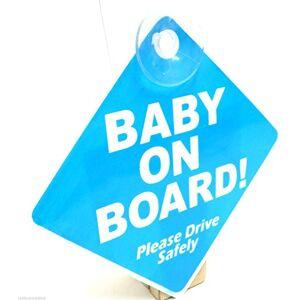 ART Panneau sécurité avec ventouse pour véhicule Baby on Board (en anglais) Bleu - Publicité
