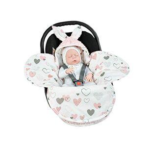 EliMeli Couverture universelle pour bébé  Pour nacelle, sige auto, poussette, landau, lit de bébé  Trs haute qualité  En Minky - Publicité