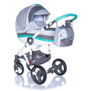 Adamex Vicco R9- Landau bébé,Sige Auto Poussette Version promenade Systme 3en1, protection pluie, moustiquaire, - Publicité