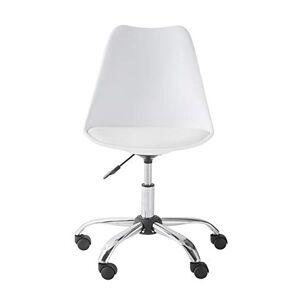 Vertbaudet Chaise de Bureau Primaire à roulettes Blanc TU - Publicité