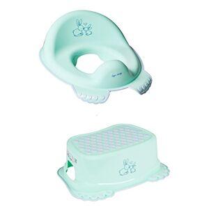 Tega Baby Réducteur de toilette anti-dérapant + marchepied pour évier WC enfant bébé Tega avec thme Lapin couleur vert menthe - Publicité
