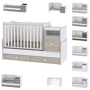 Lorelli Lit bébé évolutif/combiné Trend Plus Ambre  (Le lit se transforme en : lit d'adolescent, bureau, armoire multi-fonction) - Publicité