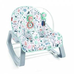 Fisher Price Transat évolutif 2-en-1 Terrazzo transat bébé avec vibrations apaisantes et siège à bascule jeune enfant, jusqu'à 18kg, GNP99 - Publicité