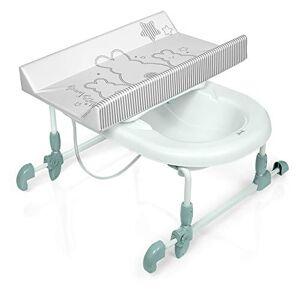 Brevi 594-667 Bagnotime Table  langer adaptable sur baignoire adulte Lapinou Perle - Publicité