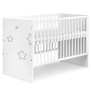 Klups TINO Lit bébé  barreaux avec motifs étoiles 120X60 - Publicité