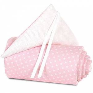 babybay Tour de lit à sommier tapissier Organic Cotton pour Maxi et, marron clair étoiles Blanc - Publicité