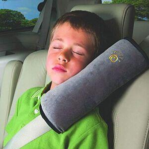 NHXS OreillerSiège D'épaule De Sécurité Avec Coussin Pour Enfant Siège Ceinture Voiture Tête Molle Oreiller 29X11x8 cm Gris - Publicité