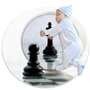 Desheze tapis rond chambre bebe Miroir d'échecs noir Tapis de Jeu Bebe Rond Tapis éveil Bébé Fille Garçon Decoration Chambre Enfant 80x80cm - Publicité