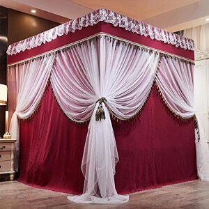 hdfj12138 MoustiquairesNouveau rideau de lit moustiquaire ménage 1,8 m rideau de tissu intégré chambre ombrage antipoussire 1,5 support de lit étage 1,2 m Xia Lit de 1,5 m (5 pieds) - Publicité