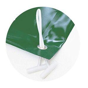Pool System Protection Bche d'hiver pour Piscine Opaque pour piscines de 5,5 x 3 m  12,5 x 7 m. Housse de Protection d'hiver en PVC avec 650 g/m. 7,8 x 5 Vert (extérieur)/Beige (intérieur) - Publicité