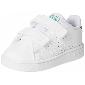 Adidas Advantage I, Chaussons Garon Unisex Kinder, Multicolore (FTW Bla/Verde/Gridos 000), 20 EU - Publicité